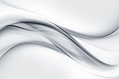 Fototapete Helle graue und weiße Wellen Hintergrund.