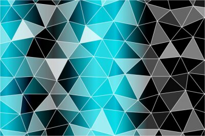 Fototapete Heller Hintergrund für Grußkarten. Polygonhintergrund schwarz, blaue Farbe. Vektor-Illustration. Um Ihre Design-Ideen, Business-Themen, erfolgreiche Präsentationen zu implementieren.