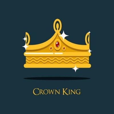 Heraldische kaiser oder könig, monarch krone fototapete ...
