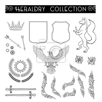 Heraldry wappen elemente vorlage sammlung. fototapete • fototapeten ...