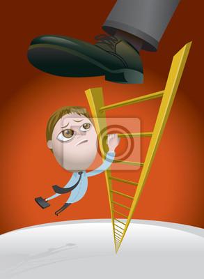Herausforderungen Klettern auf der Karriereleiter