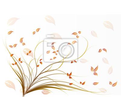 Herbst auf weißem hintergrund