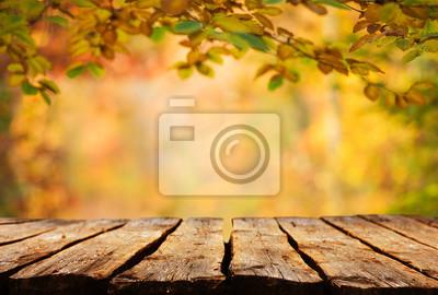 Herbst Hintergrund Tabelle Fototapete Fototapeten Tischplatte