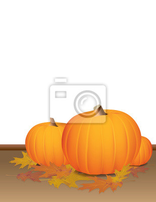 Herbst Kürbisse und bunte Blätter