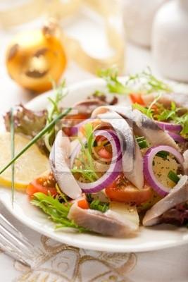 Salat Weihnachten.Fototapete Hering Kartoffel Salat Für Weihnachten