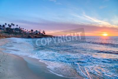 Fototapete Herrlicher Sonnenuntergang in La Jolla Kalifornien