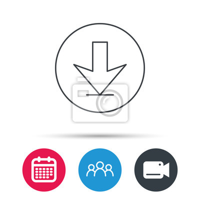 Herunterladen icon. down-pfeil-zeichen. internet-ladesymbol ...