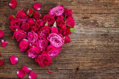 Fototapete Herz aus Rosen