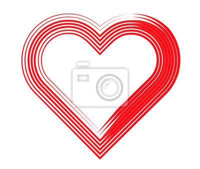 Herz gestreift linien fototapete • fototapeten Linie, gestreift ...