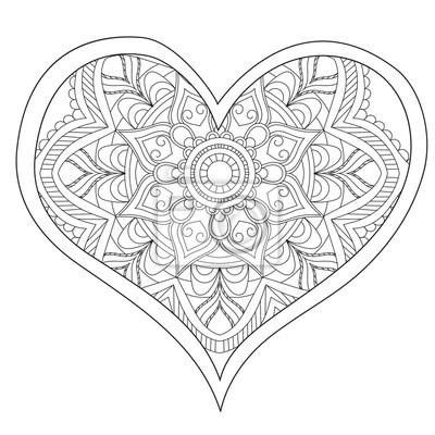 Herz Liebe Kreisf 246 Rmige Mandala F 252 R Erwachsene Malbuch