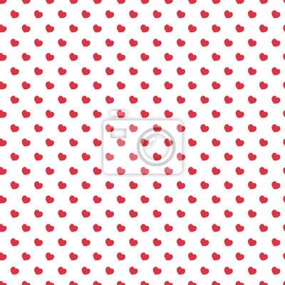 Herz nahtlose muster rote farbe auf weißem hintergrund für ...