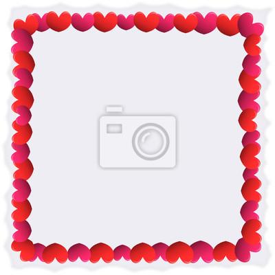 Fototapete Herz Rot Und Rosa Umrandung