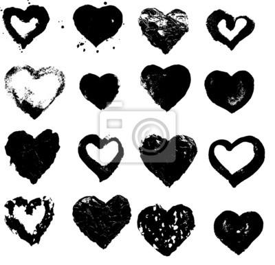 Herz Silhouette Vektor-Illustration