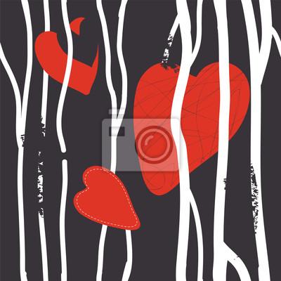 Herzen abstrakte nahtlose Muster Grunge