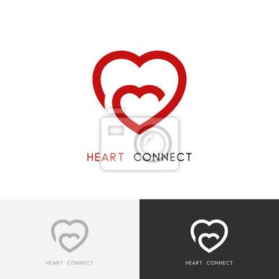 Herzen verbindung logo - mutter liebe, mutter und ein kind symbol ...