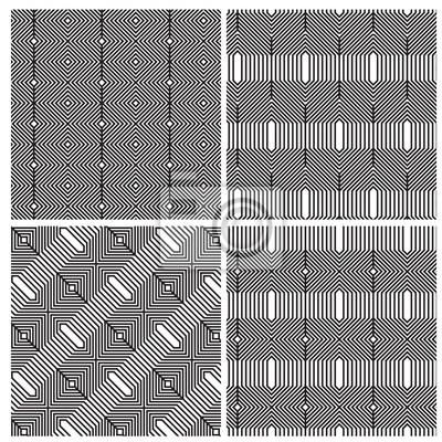 Hexagon-muster in schwarz und weiß fototapete • fototapeten ...