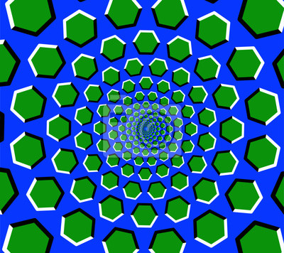 hexagon tunnel optische t uschung in blau gr n fototapete fototapeten optische t uschung. Black Bedroom Furniture Sets. Home Design Ideas