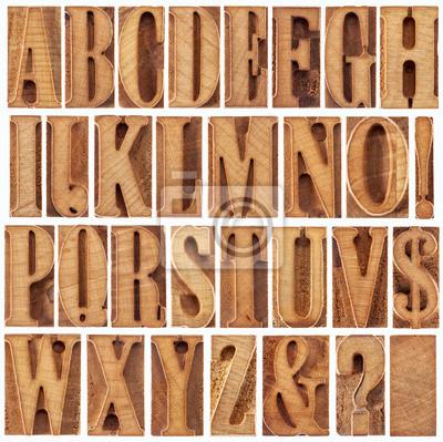 Hhhochhdruckholztypen Alphabet