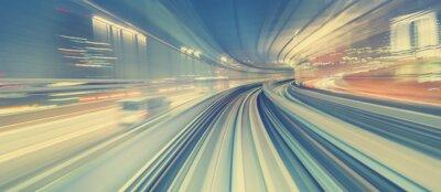 Fototapete High-Speed-Technologie-Konzept über eine Tokyo Monorail