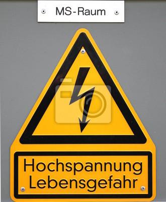 High voltage - Life Danger sign in Germany (medium voltage area)