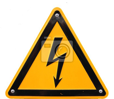 High voltage sign in Germany