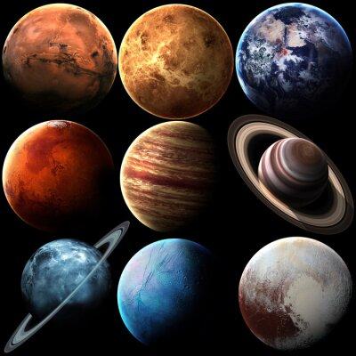 Fototapete Hight Qualität isoliert Sonnensystem Planeten. Elemente dieses Bildes von der NASA eingerichtet