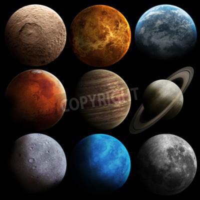 Fototapete Hight Qualität Sonnensystem Planeten.