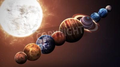Fototapete Hight Qualität Sonnensystem Planeten. Elemente dieses Bildes von der NASA eingerichtet