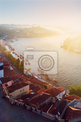 Fototapete hill with old town of Porto, Portugal