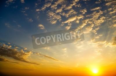 Fototapete Himmel Hintergrund auf Sonnenaufgang Nature Zusammensetzung
