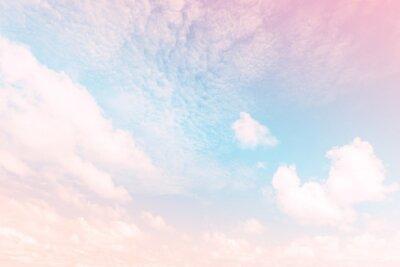 Fototapete Himmel mit einem Pastell farbigen Farbverlauf