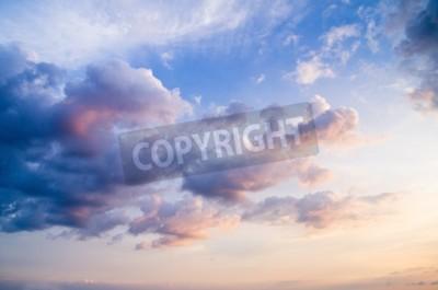 Fototapete Himmel mit Wolken und Sonne