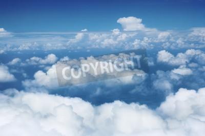 Fototapete Himmel und Wolken aus fliegenden Flugzeug