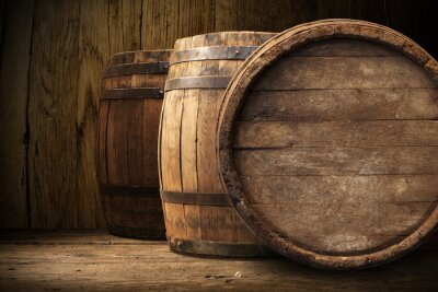 Fototapete Hintergrund der Barrel
