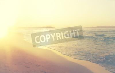 Fototapete Hintergrund der verschwommenen Strand und Meer Wellen, Vintage-Filter.