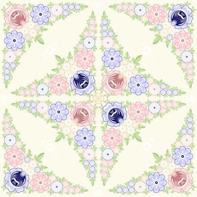 Fototapete Hintergrund floral Ornament. Gorodets Malerei. Russische traditionelle Volkskunst. Vektor-Abbildung 10 EPS