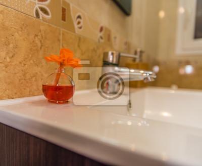Hintergrund für werbung von badezimmern fototapete • fototapeten ...