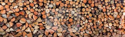 Hintergrund Holz für den Winter