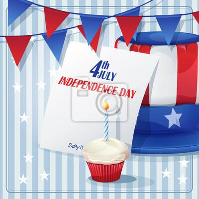 Hintergrund Independence Day am 4. Juli mit Fahnen.