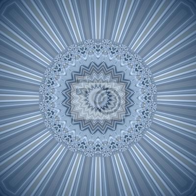 Fototapete Hintergrund Mandala In Blau Weiß Braun, Hypnose Und Meditation,  Dekoratives Muster, Esoterik