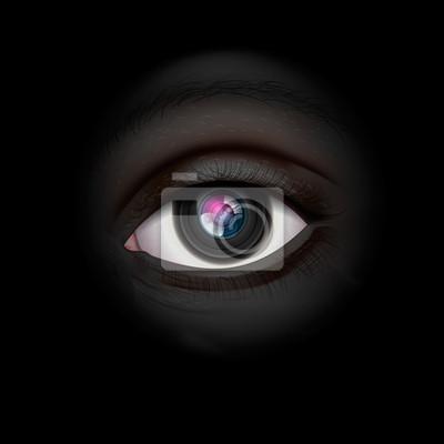 Hintergrund mit Kameralinse Auge, Vektor-Illustration eps10.