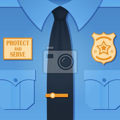 Hintergrund mit Polizisten uniform