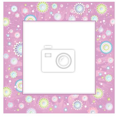 Hintergrund von Frühlingsblumen, Vektor-Illustration