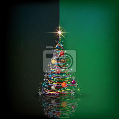 Hintergrund Weihnachten mit Baum und Dekoration