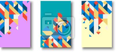 Fototapete Hintergründe mit abstraktem buntem geometrischem Muster.