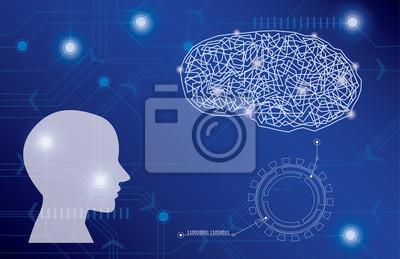 Fototapete Hintergrundgrafiken, medizinische Illustrationen, Vektor Gehirn.