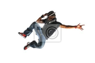 Hip Hop-Tänzer-Springen