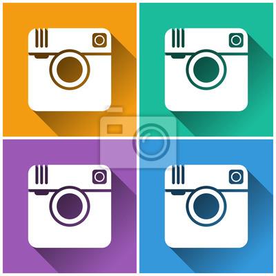 hipster Foto Kamera-Symbol