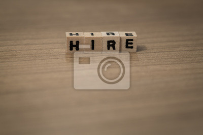 Hire in wooden cubes