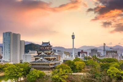 Fototapete Hiroshima Japan Stadtansicht